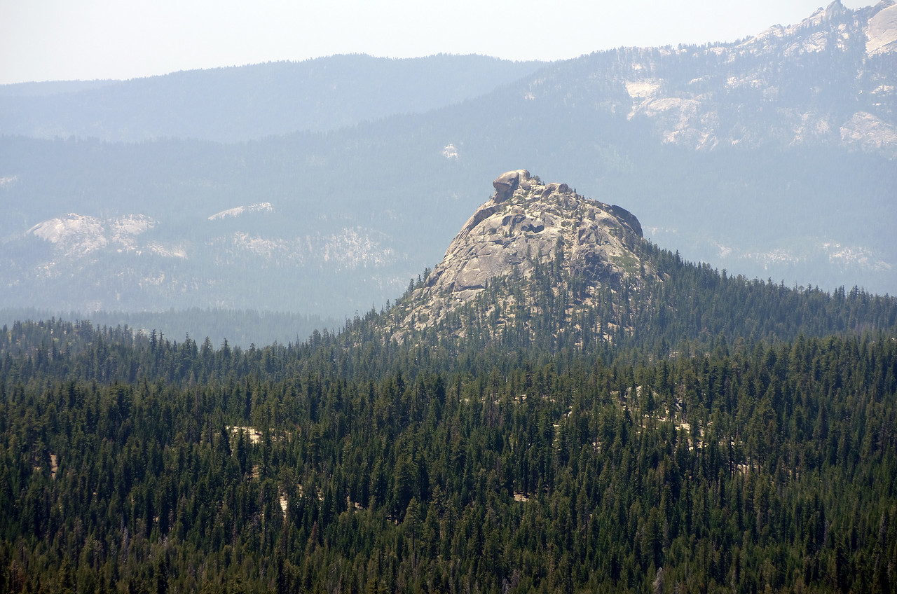 Jackass Rock as seen from atop of Squaw Dome.
