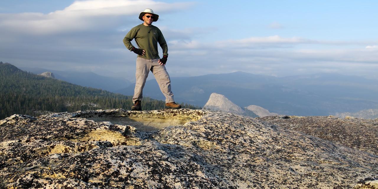 Me atop of the true summit of Jackass Rock.