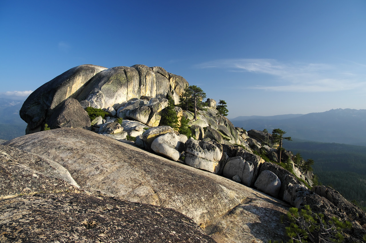 The true summit of Jackass Rock is furthest South.