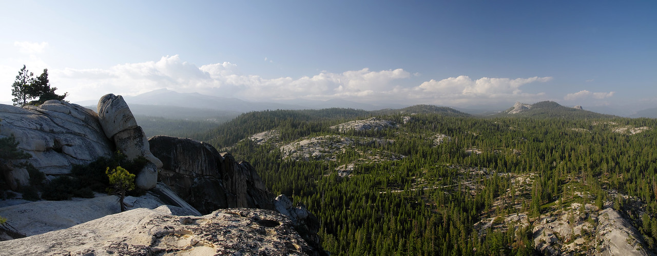 Panoramic view looking North from atop of Jackass Rock