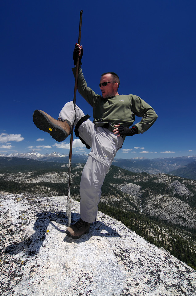 A little pole dancing atop of Squaw Dome.