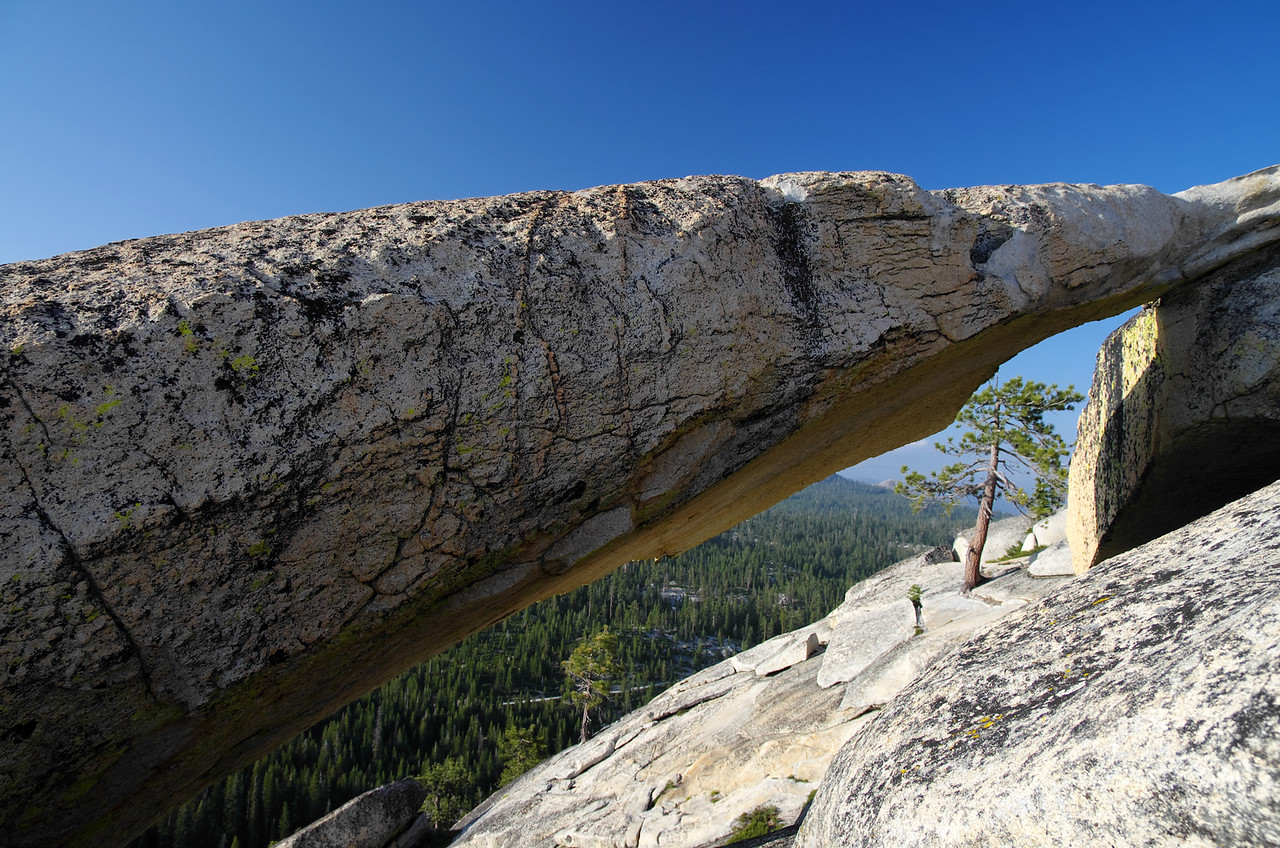A 75' rock arch atop of Jackass Rock on the NW side of the mountain.