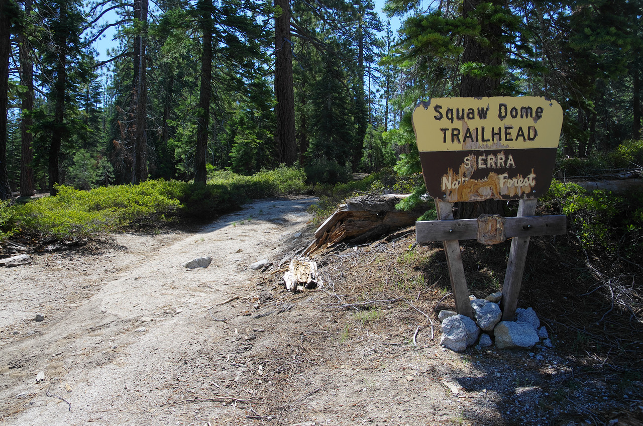 Squaw Dome Trailhead;  this is where you start, but trust me--THERE IS NO TRAIL!