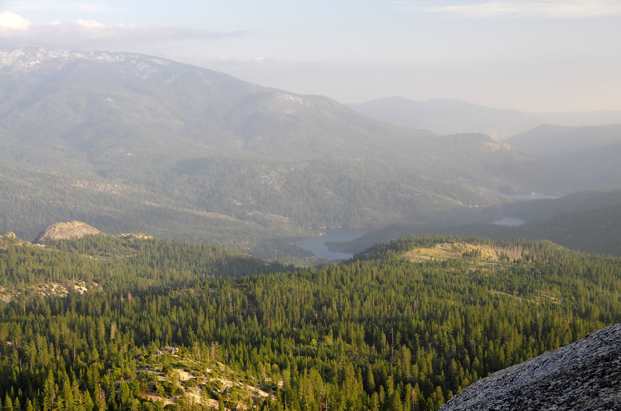 Looking down on Mammoth Pool Reservoir from atop of Jackass Rock.