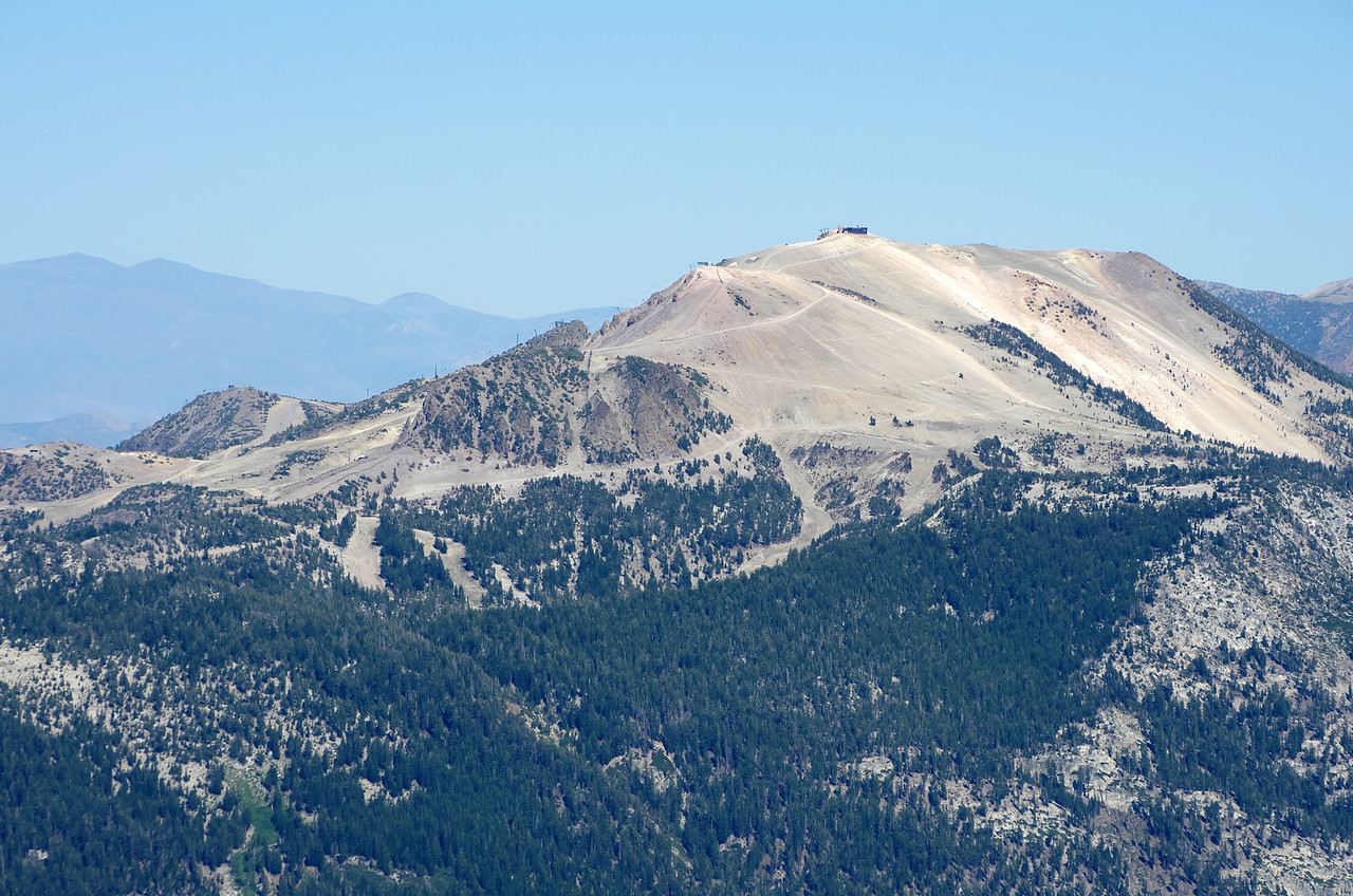 Mammoth Mountain as seen through my telephoto lens from near the base of the Kehrlein Minaret.
