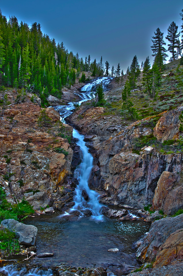 Minaret Creek just after Sunset 3-shot HDR~8:15pm, June 29th, 2012