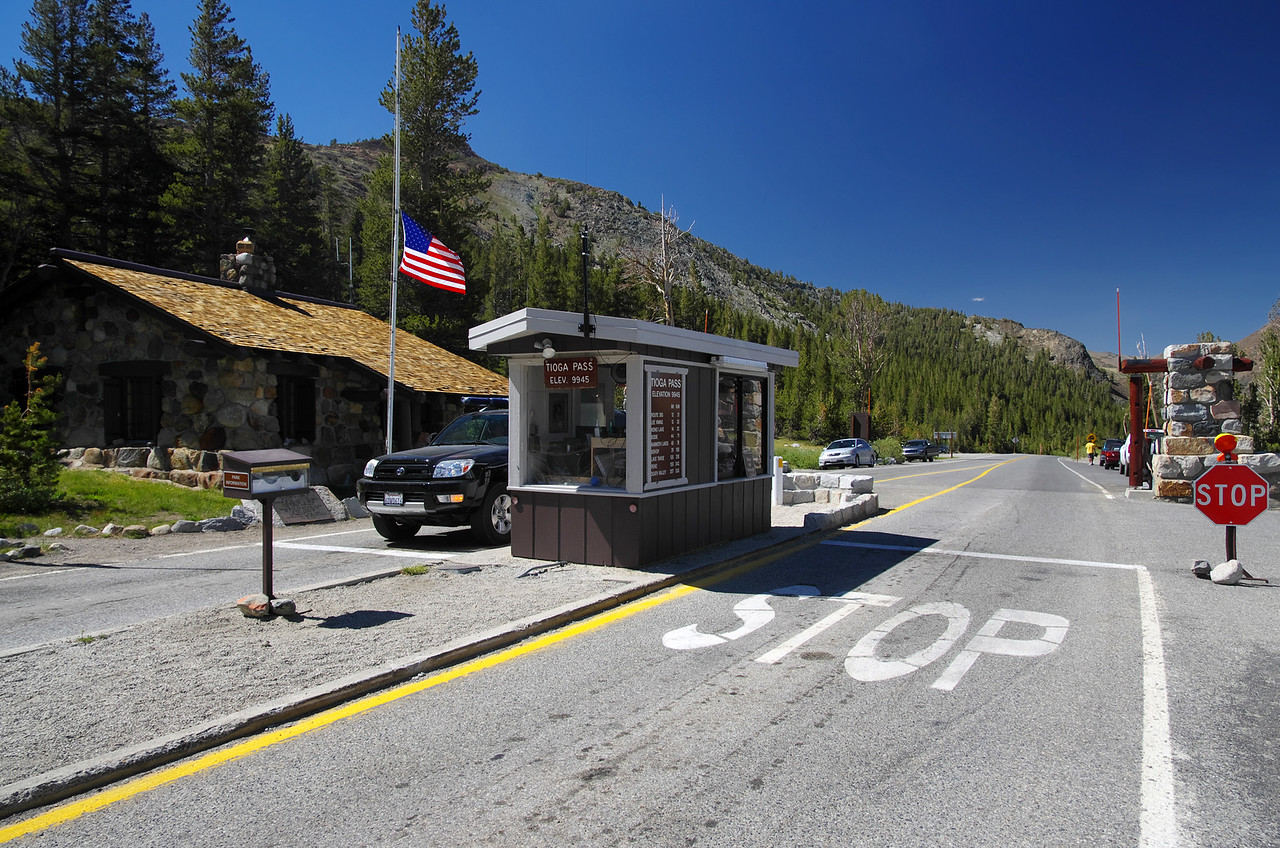 Tioga Pass going out of the park.