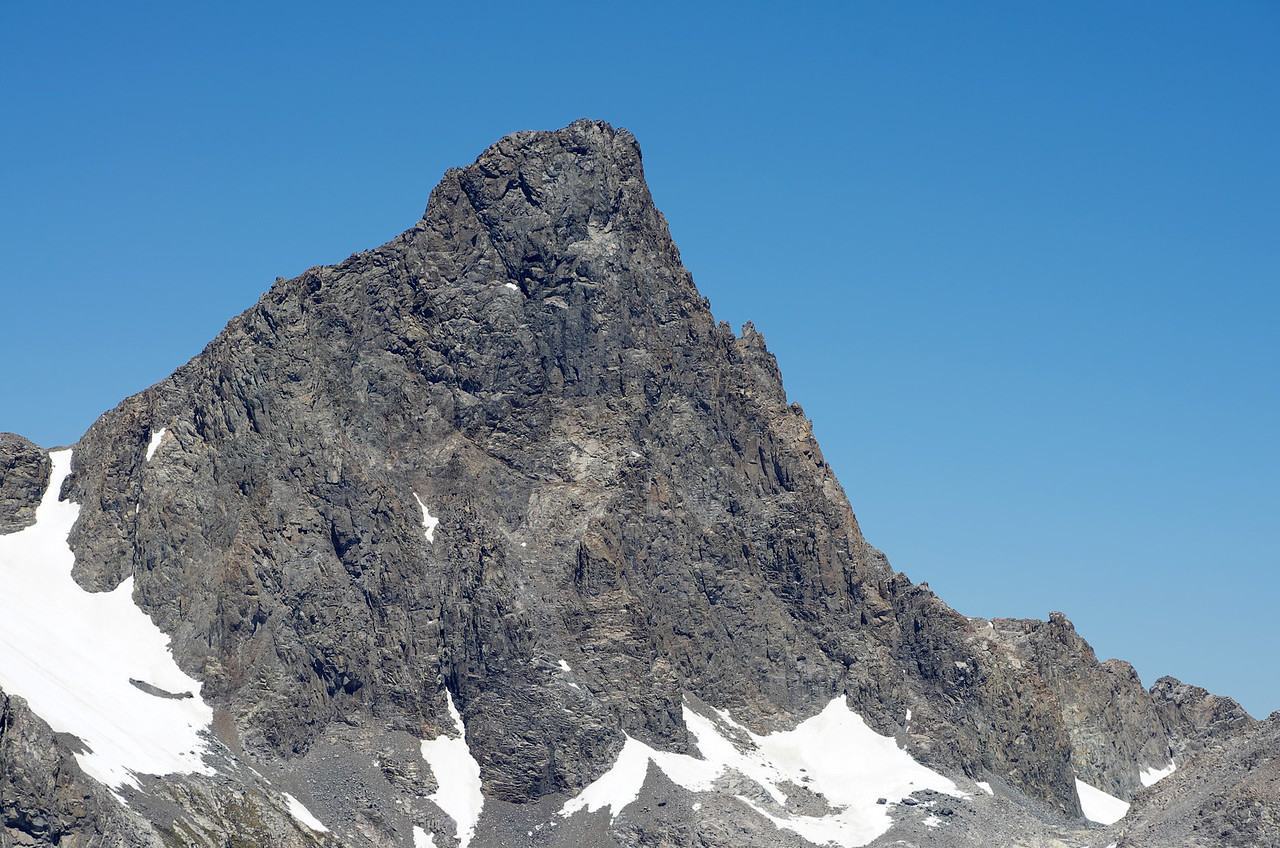 Banner Peak as seen through my telephoto lens from atop of Volcanic Ridge.