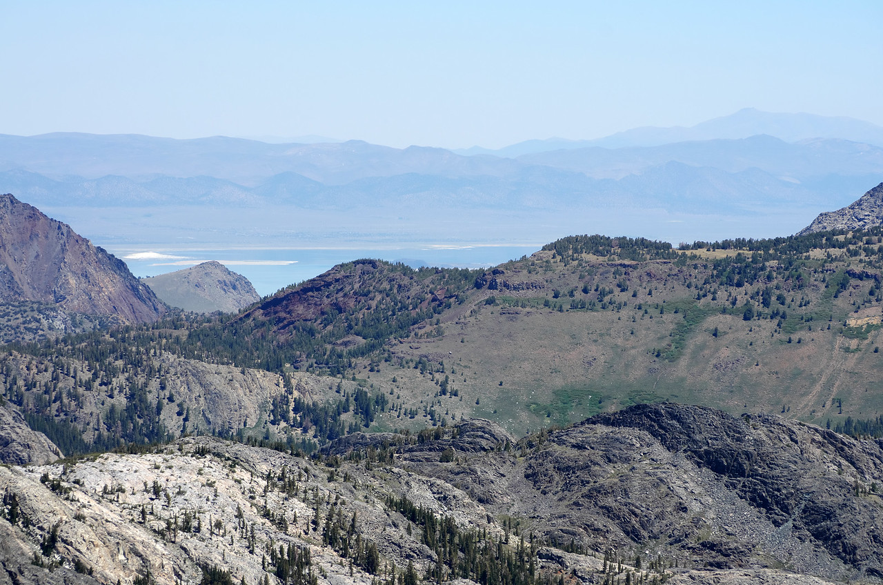 Mono Lake as seen through my telephoto lens from atop of Volcanic Ridge.