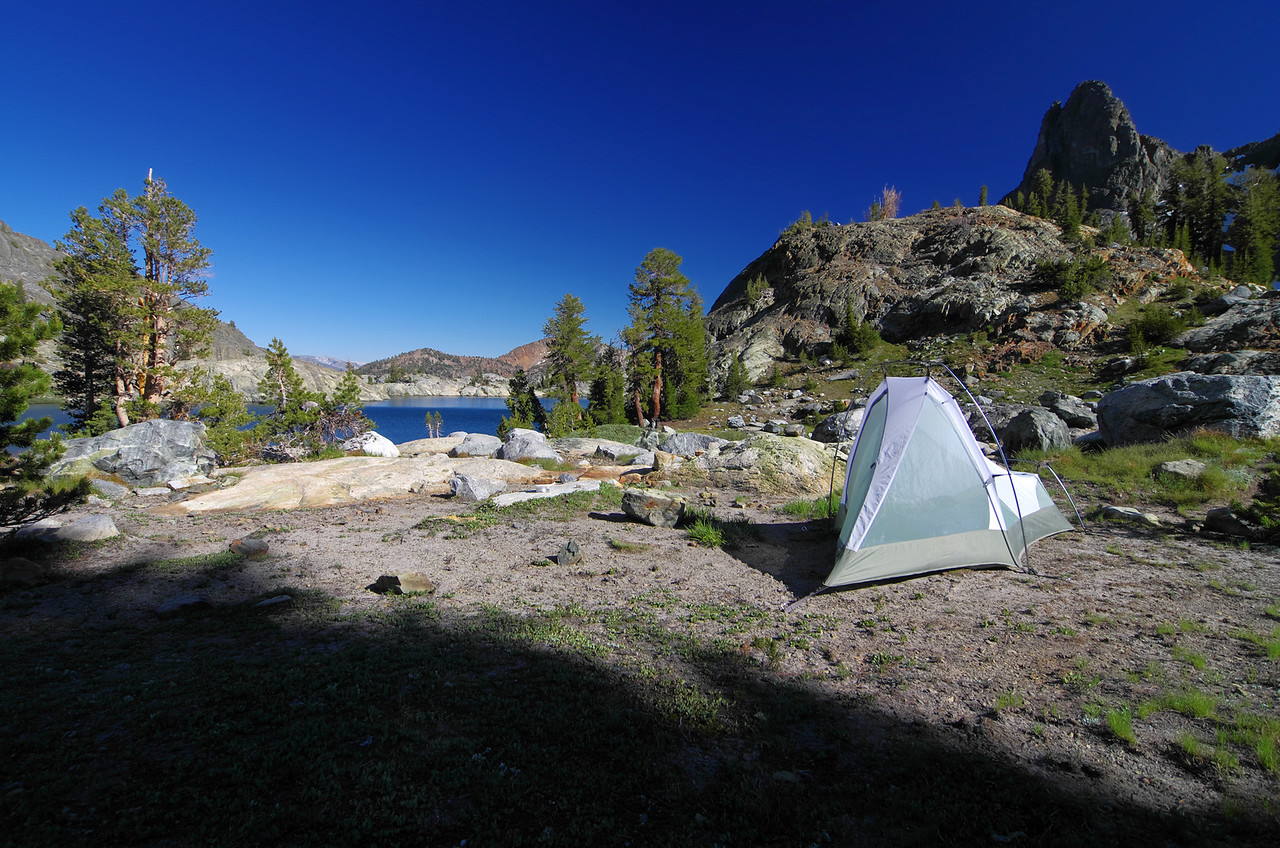 My campsite at Minaret Lake.