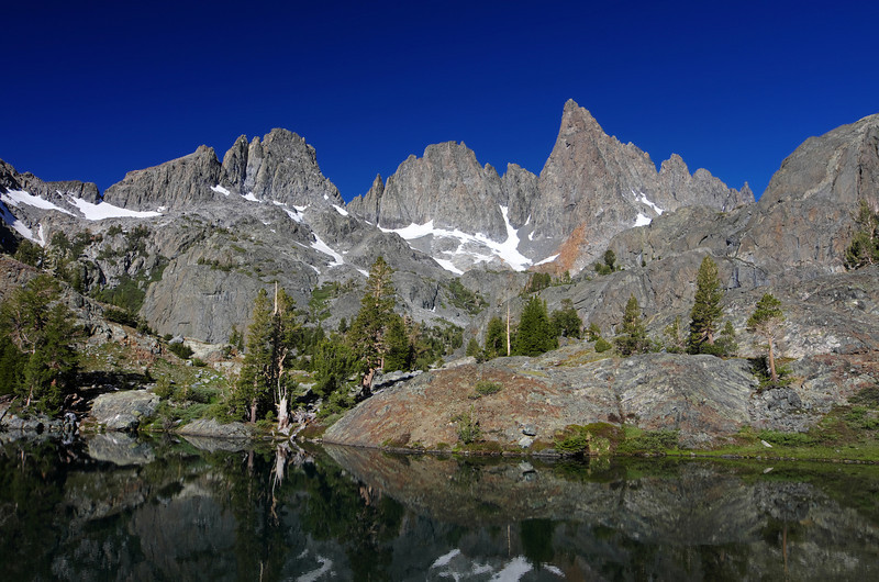 Minaret Lake and the Mammoth Minarets.