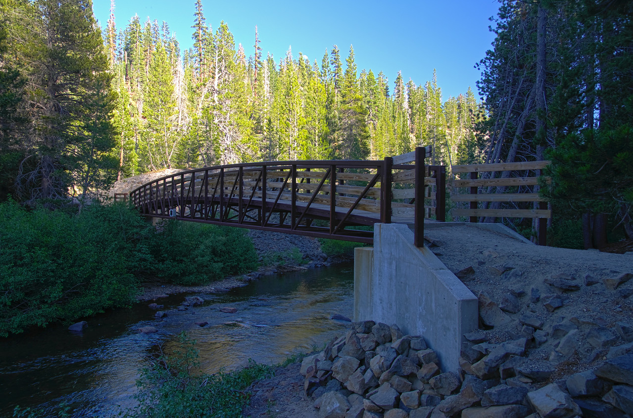 """Where the Devils Postpile trail crosses the Middle fork of the San Joaquin River and meets up with the John Muir Trail~ 6:20pm....""""Ya, I know, I got a really late start on this one."""""""