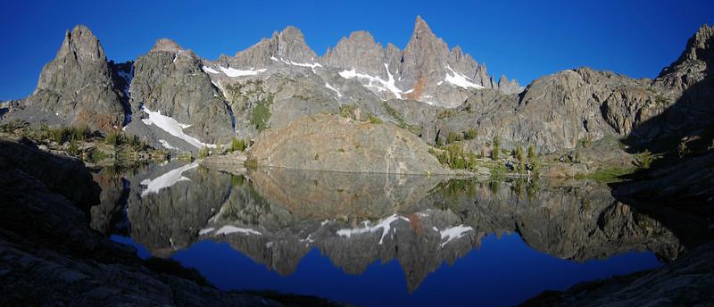 Mammoth Minaret reflection panorama.