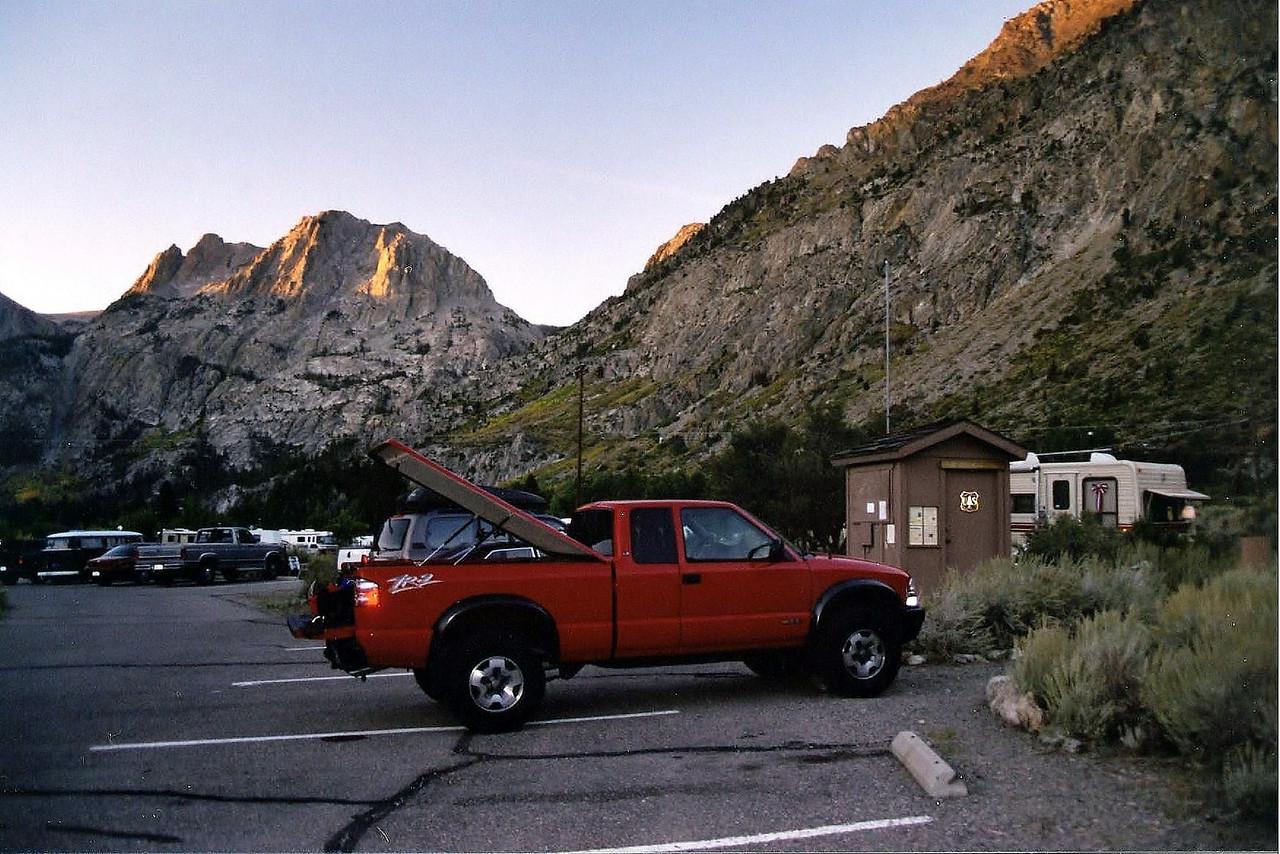 David's truck at the Rush Creek Trailhead