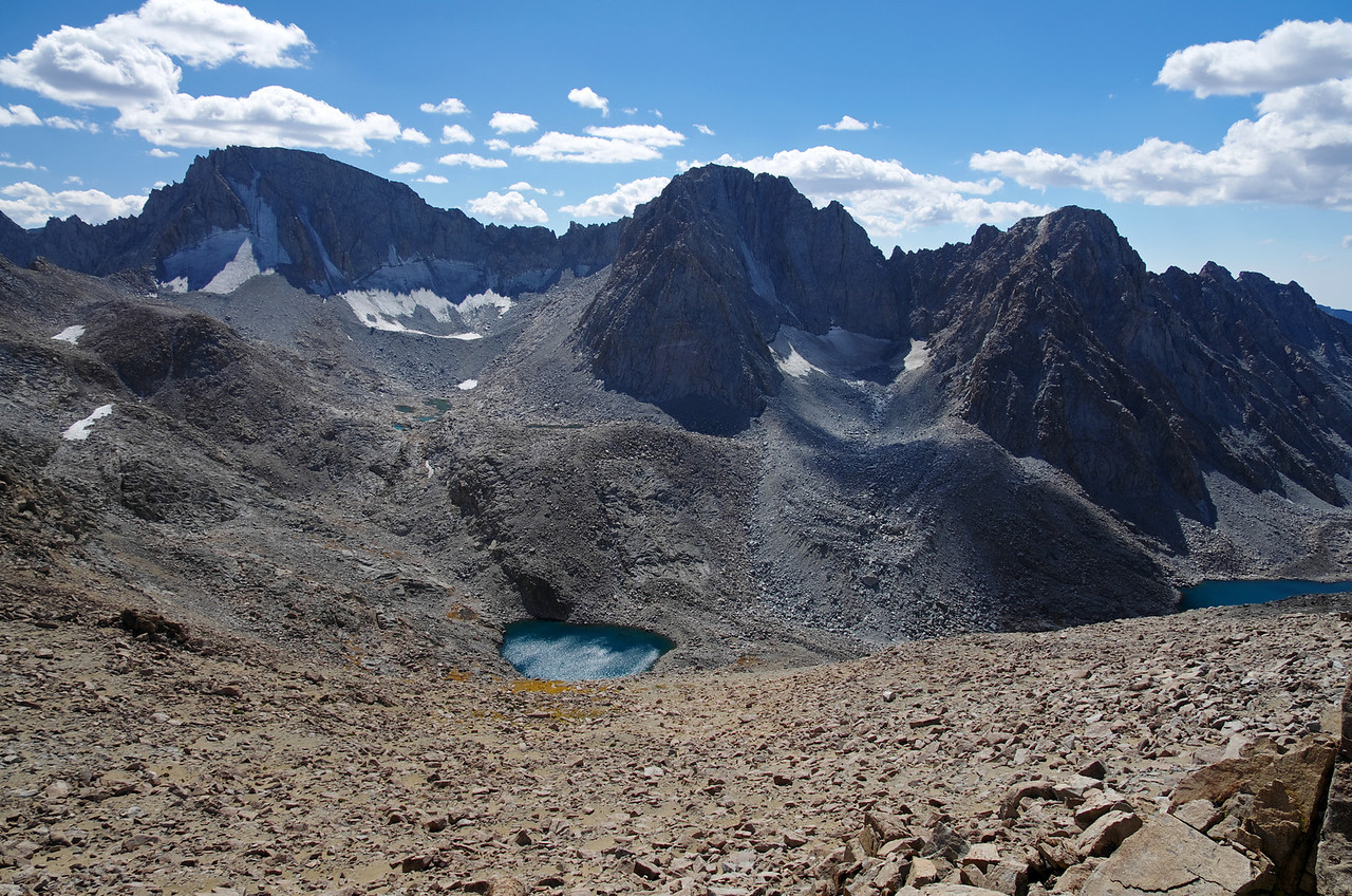 Mount Darwin and Mount Mendel as seen from near Lamarck Col.