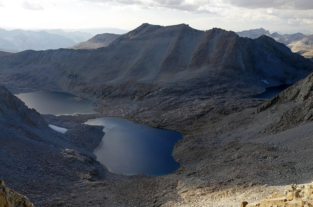 The two lower Lakes below The Keyhole in Kings Canyon NP.