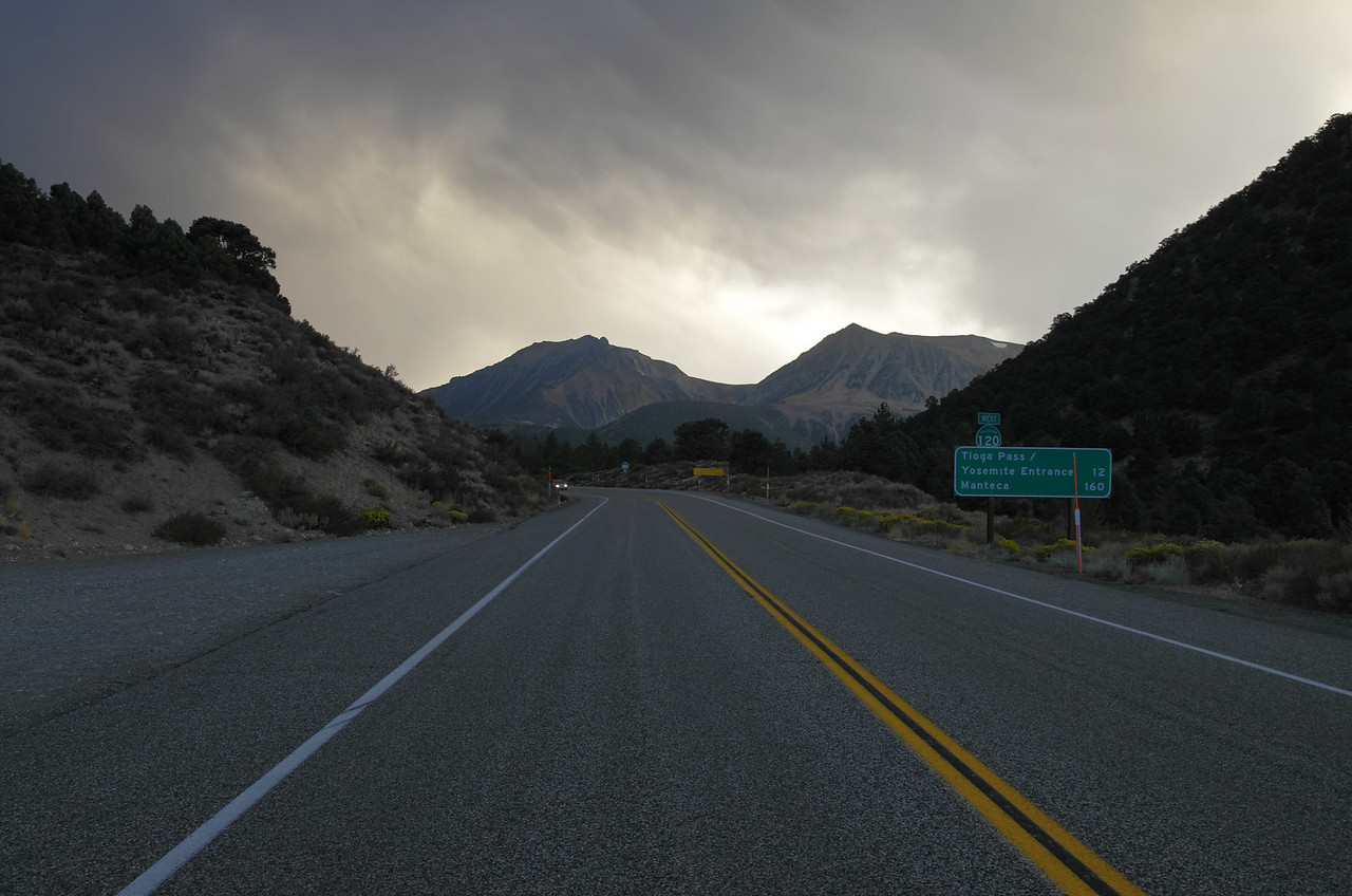 Looking back up towards Tioga Pass Rd from near Hwy 395.