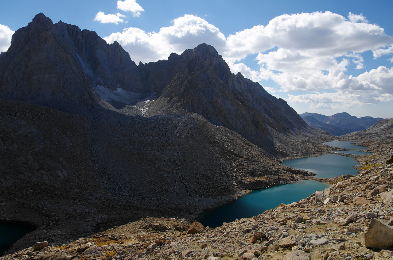 Darwin Canyon and the series of lakes that set below Mount Mendel.