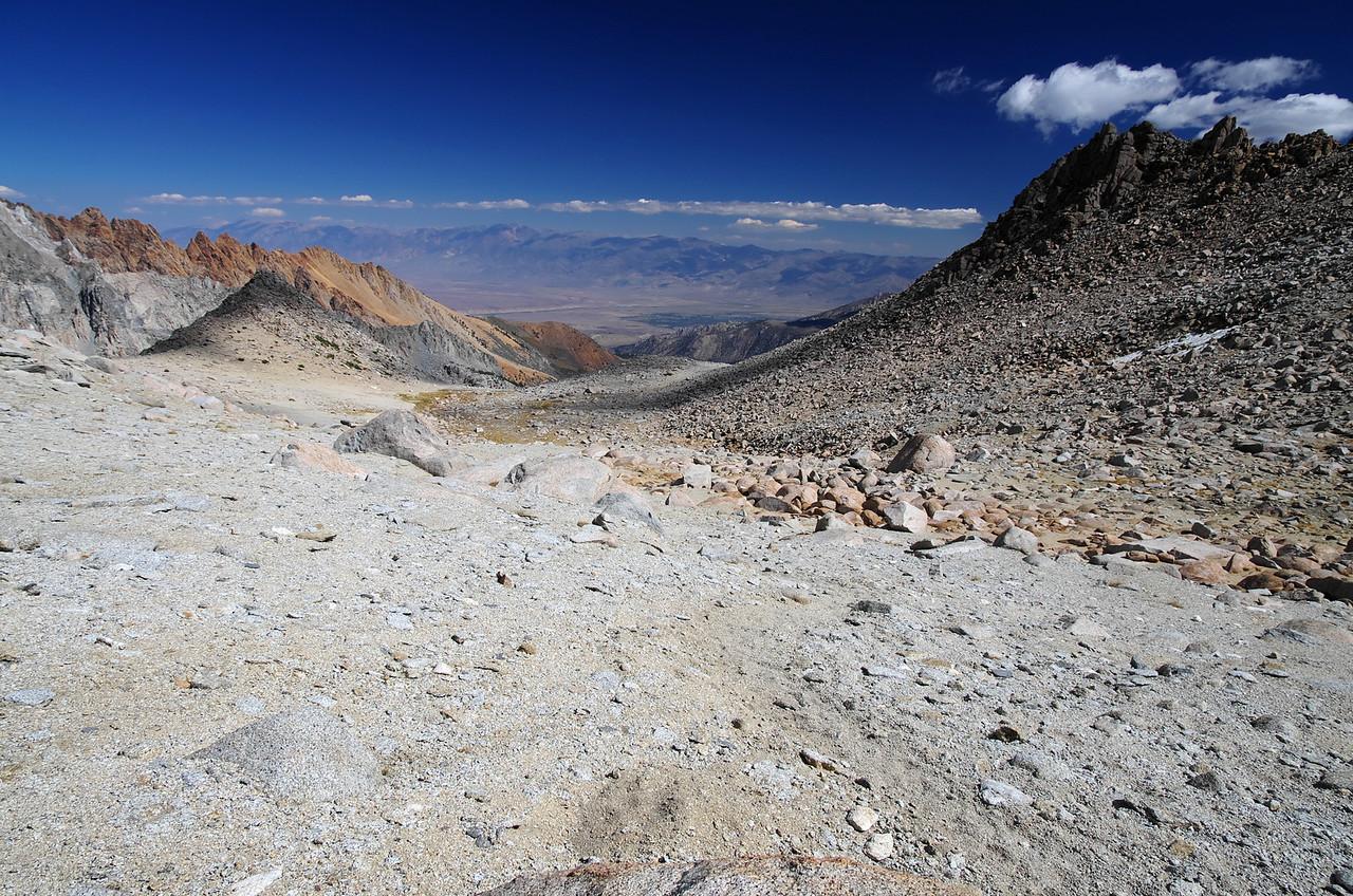 Climbing towards the Lamarck Col, around 12,200ft.