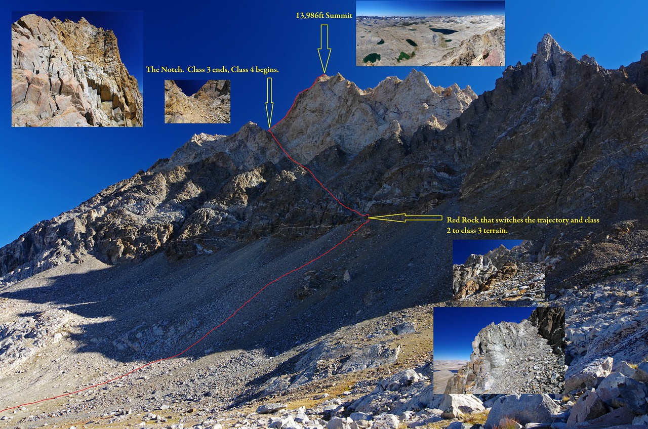 """The Class 2-4 """"Regular Route,"""" illustrated from this vantage point."""
