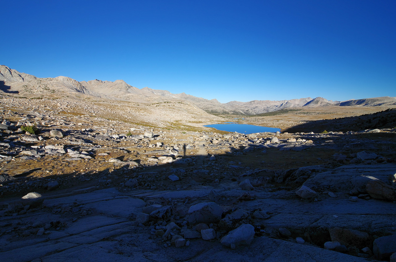Looking down on Summit Lake from Piute Pass.