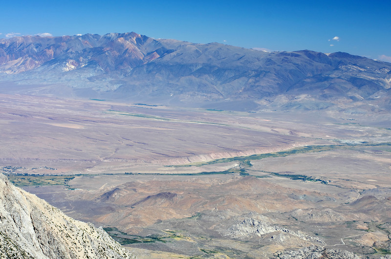 Looking down on Ownes River from the summit of Mount Humphreys.
