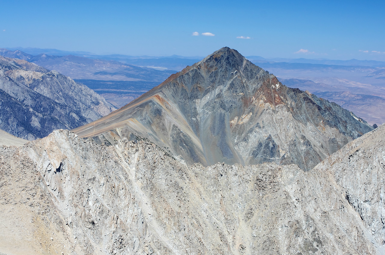 A close-up of Mount Tom from the summit of Mount Humphreys.