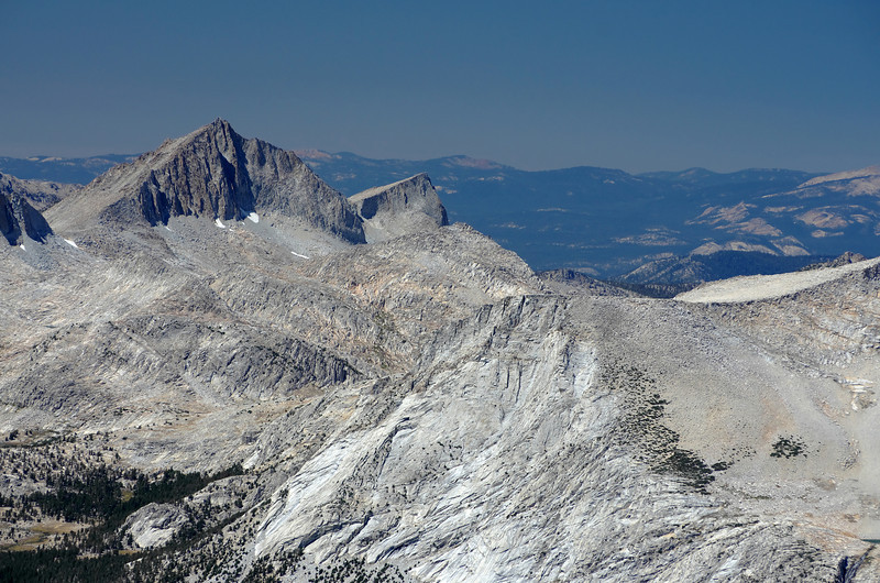 A close-up of Seven Gables from the summit of Mount Humphreys.