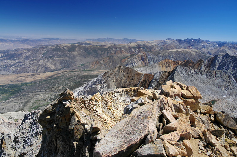 Looking SE from the lower summit of Mount Humphreys.
