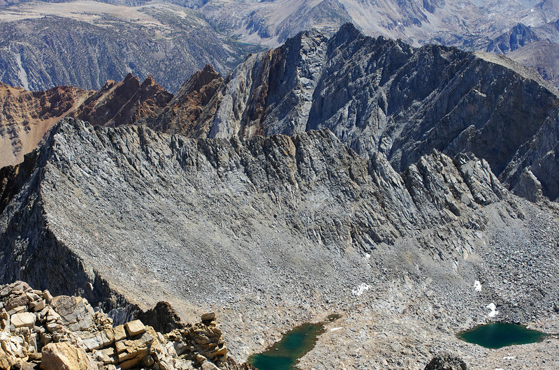 A close-up of Mount Emerson from the summit of Mount Humphreys.