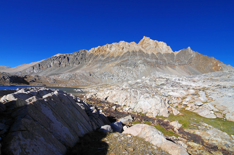 I  start to leave the Humphreys basin and head for Piute Pass, but snap a few last pictures of the peak as I make my way south.