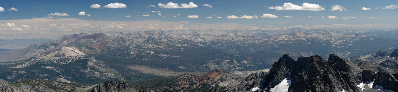 Looking South from atop of Mount Ritter.