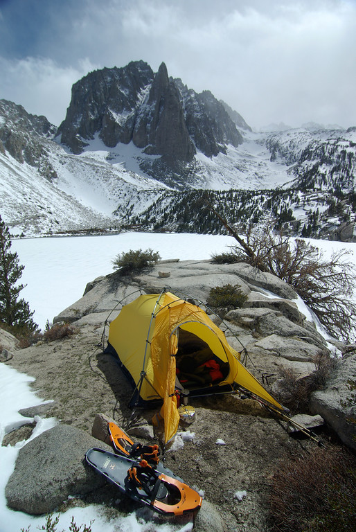 My camp above the Second Big Pine Lake.