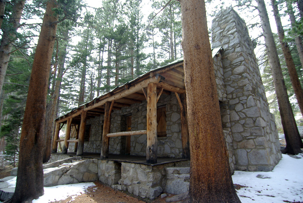 The Big Pine Creek Ranger Station~9,300ft.  Built by movie actor Lon Chaney.