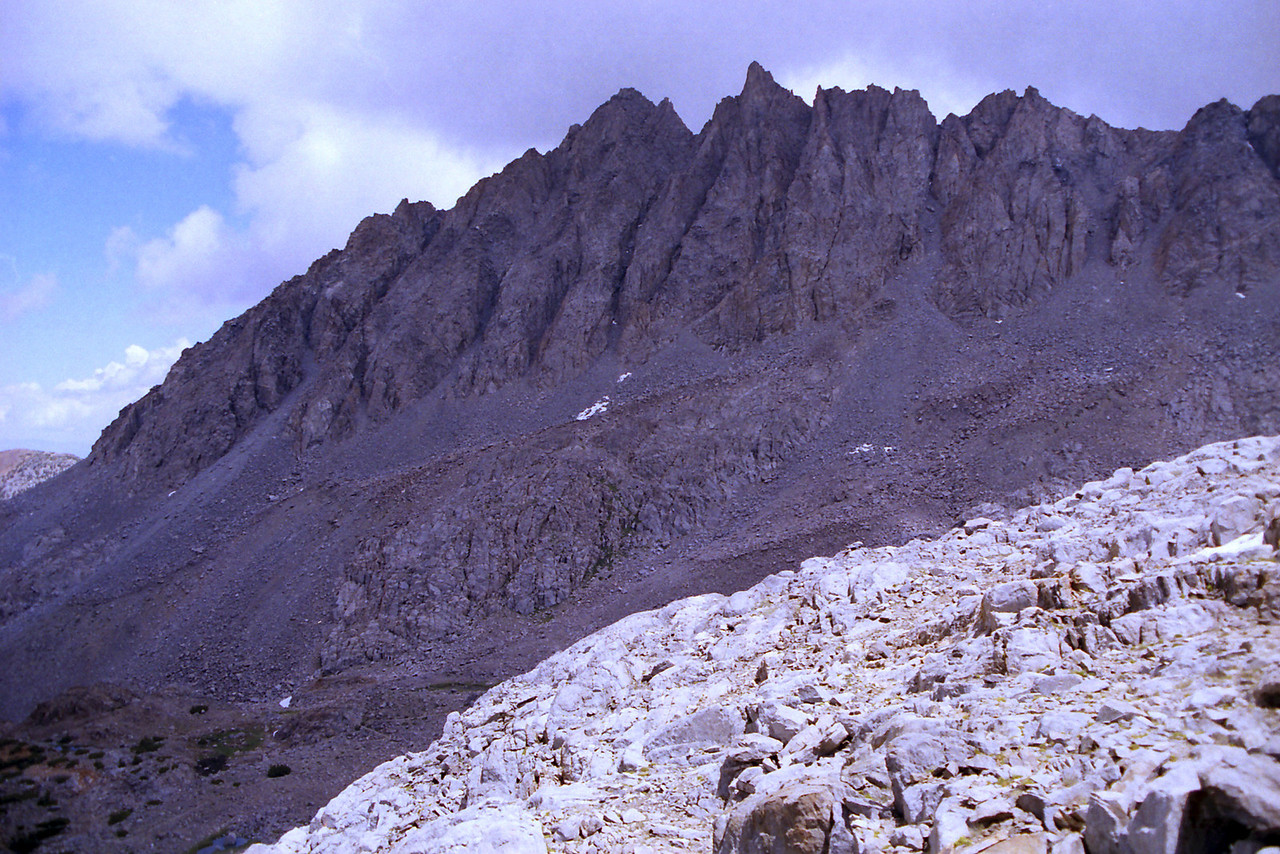 The NE side of Bishop Pass