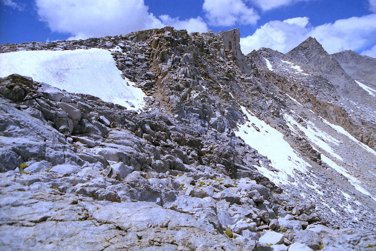The NW side of Bishop Pass
