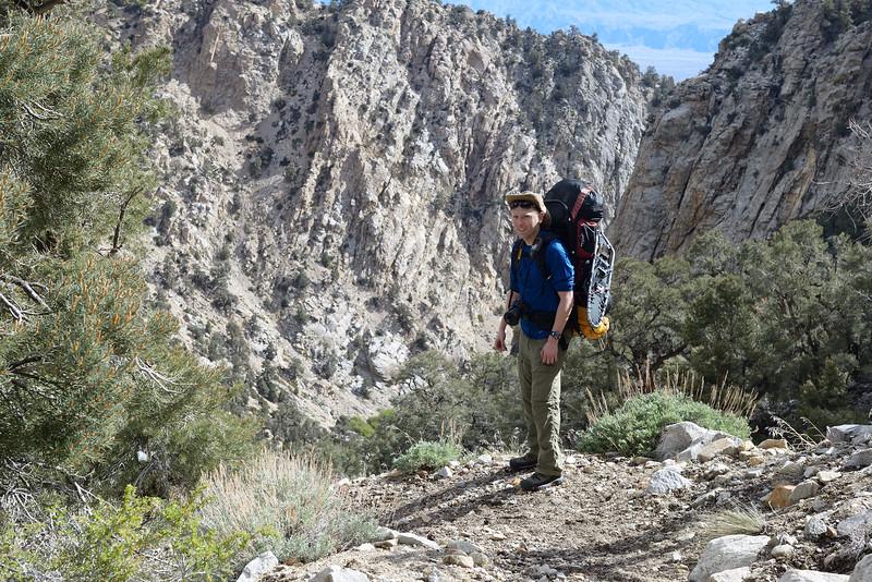 Climbing towards the 9,100ft pass.