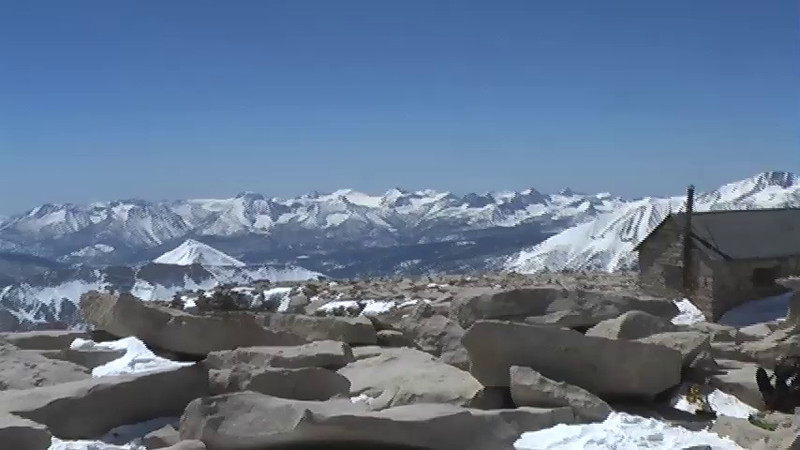 Atop of the Mt Whitney Summit, 4/4/2009, 1:17pm