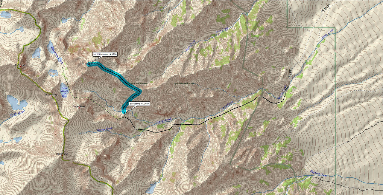 MAP, Basecamp to Williamson