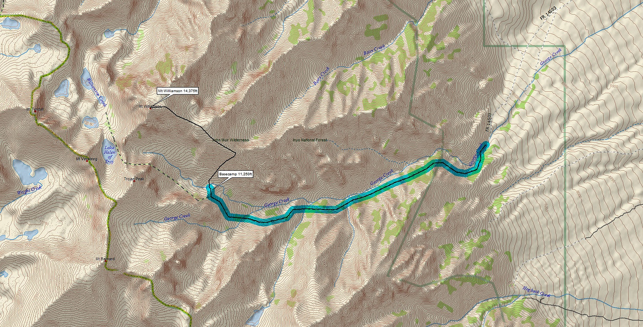 MAP, Owens Valley to Basecamp