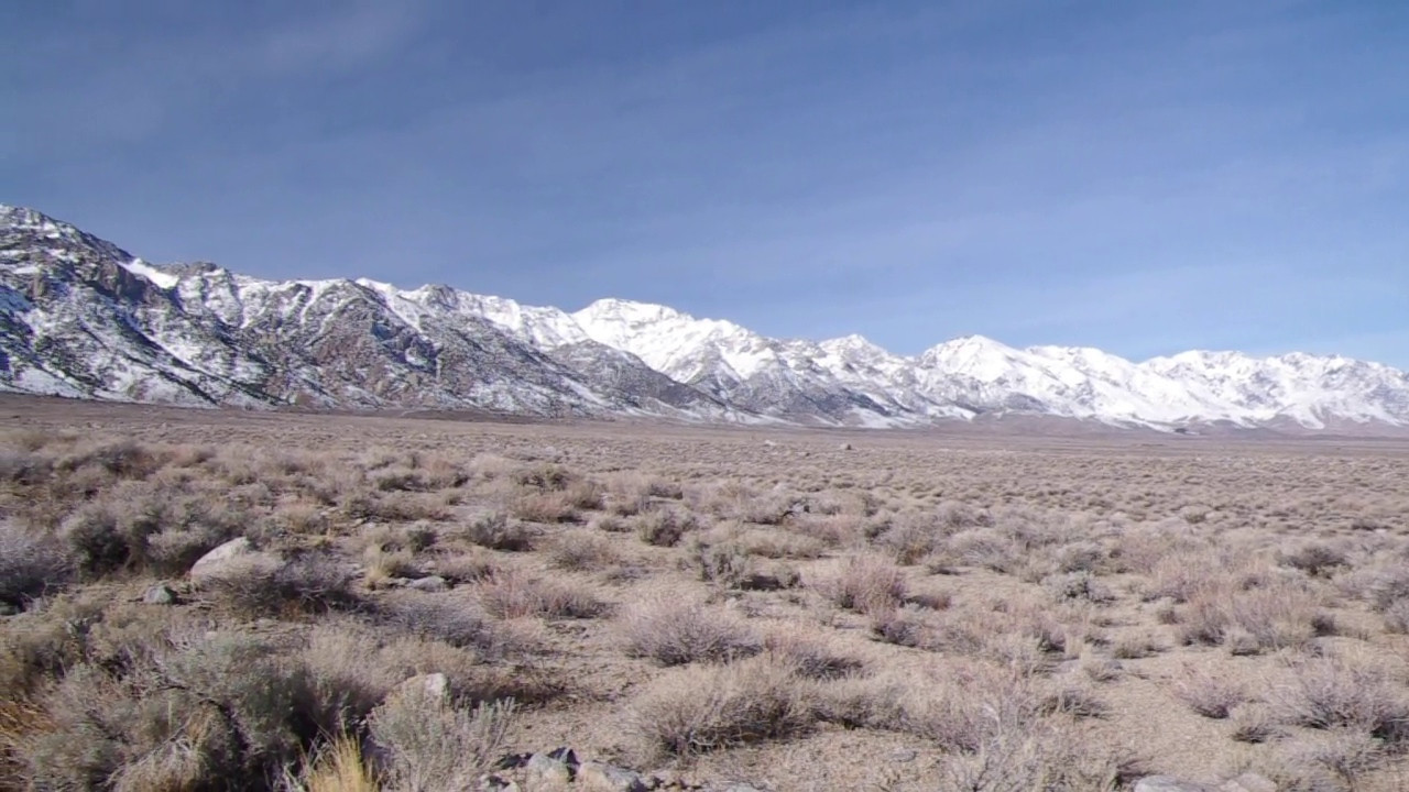 Video of the Eastern Sierras, about 5,500ft elevation and just West of Manzanar Historic Site