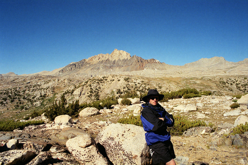 Me posing in front of Mt Humphreys--maybee someday I'll get a chance to climb it.