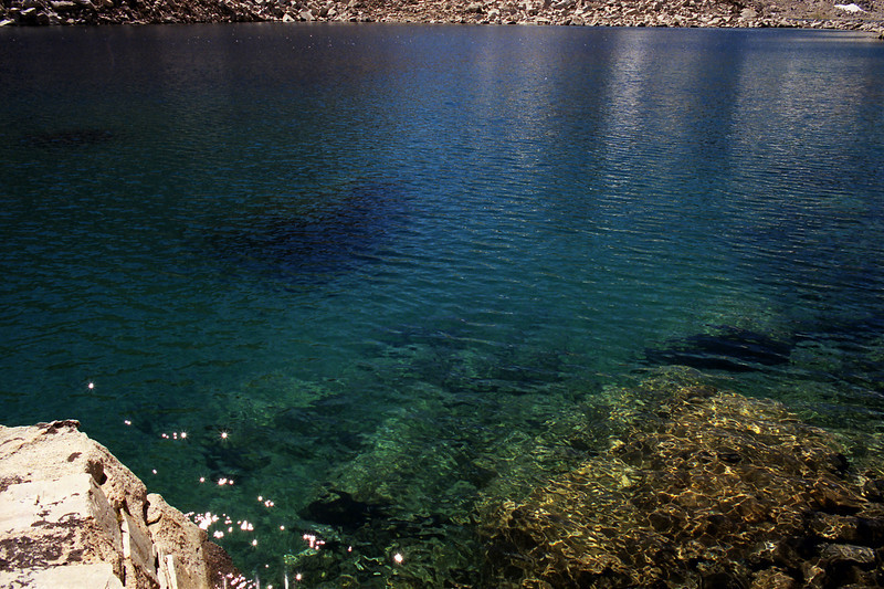 The water of the lower Goethe Lake