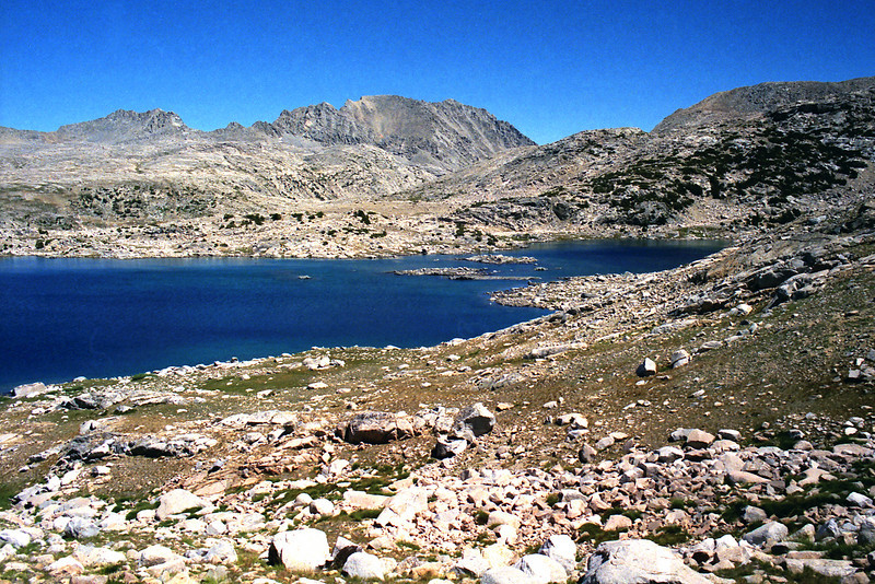 Muriel Lake with Piute pass in the background