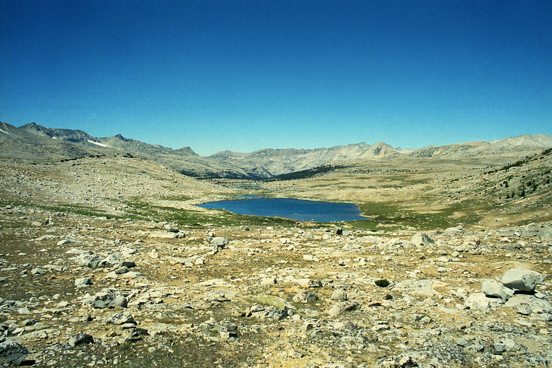 Looking West from Piute Pass at Summit Lake
