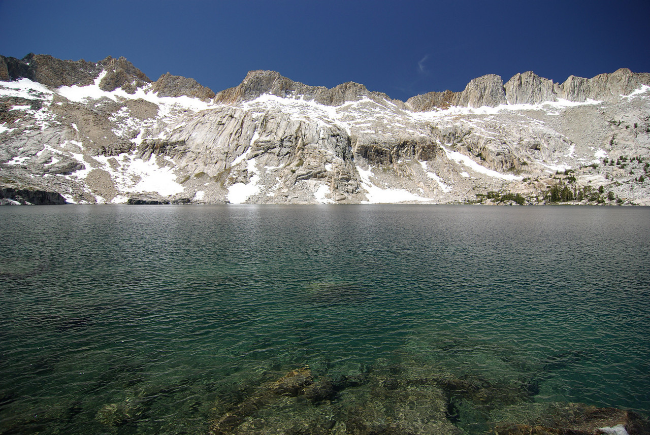 Anne Lake w  Silver Divide in the Background