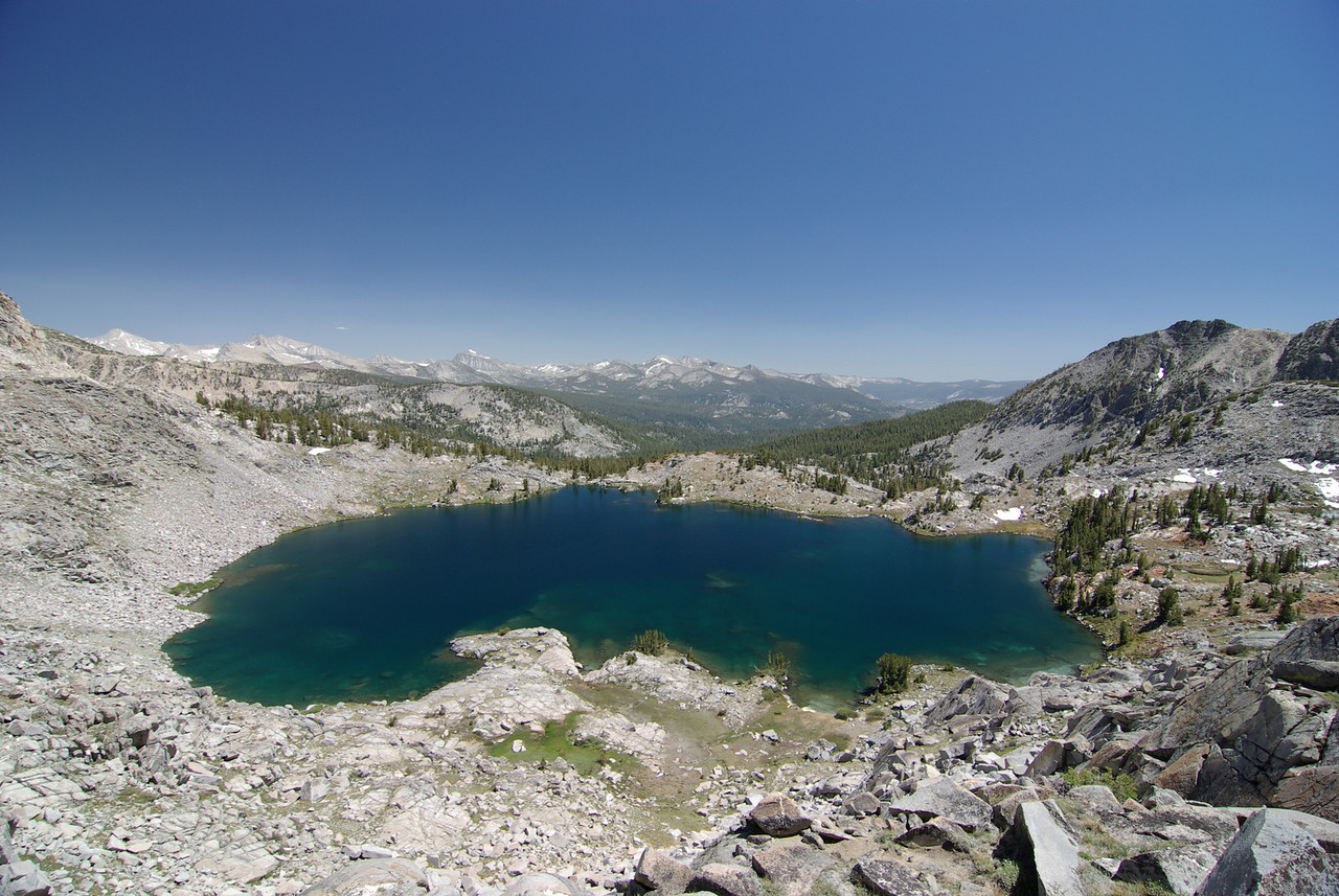Looking down on the North-Most Graveyard Lake from the Pass