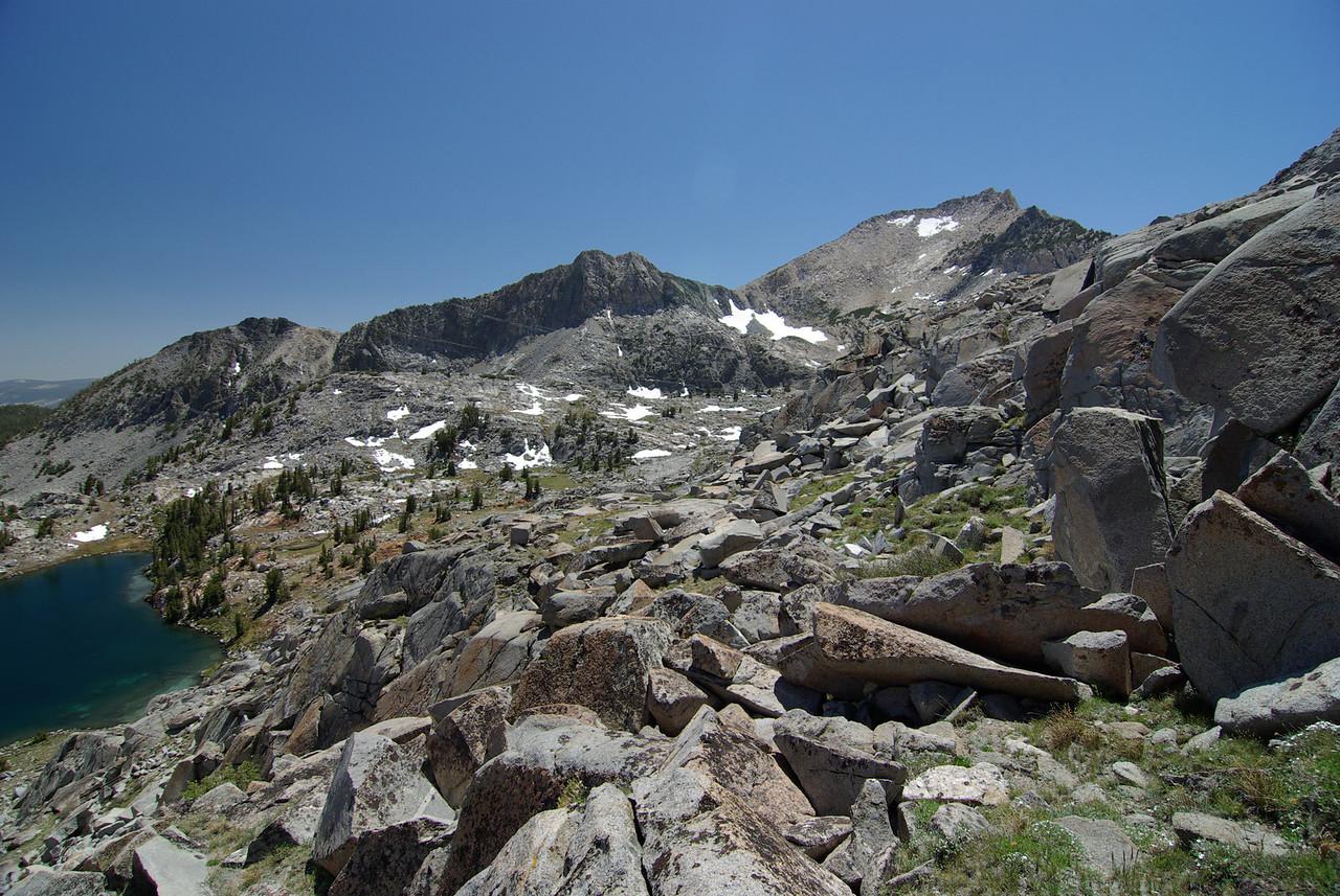 Climbing towards the Pass