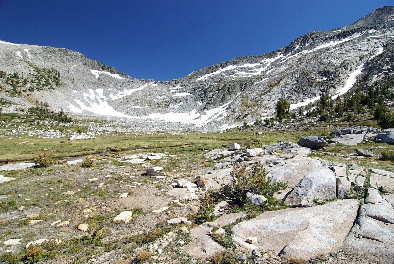 Looking back towards the Pass that led me to the small Valley just East of Peter Pande Lake
