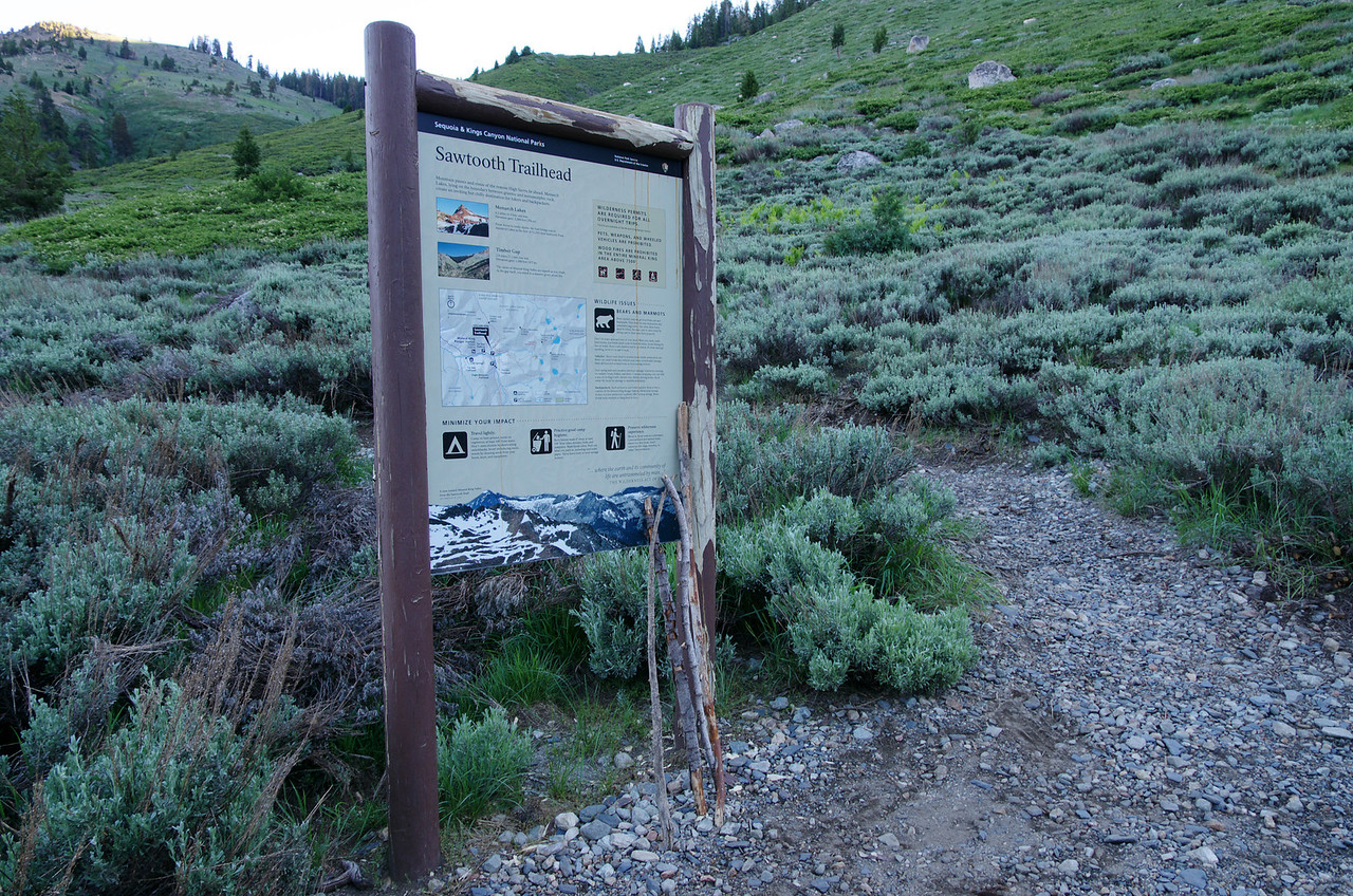 Sawtooth Trailhead--about 7,825ft starting elevation.